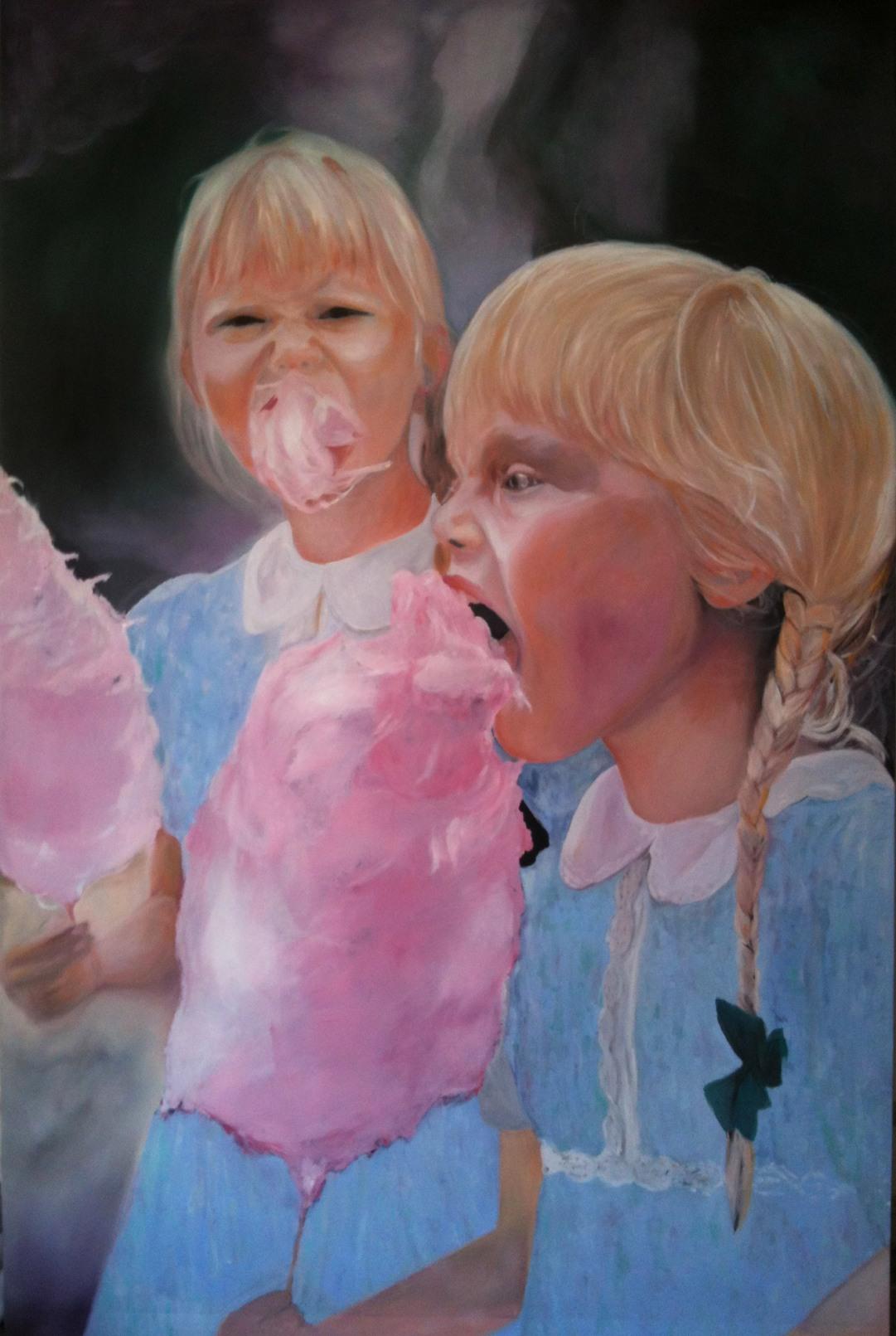 Barbe à Papa huile sur toile 230x150 cm 2013