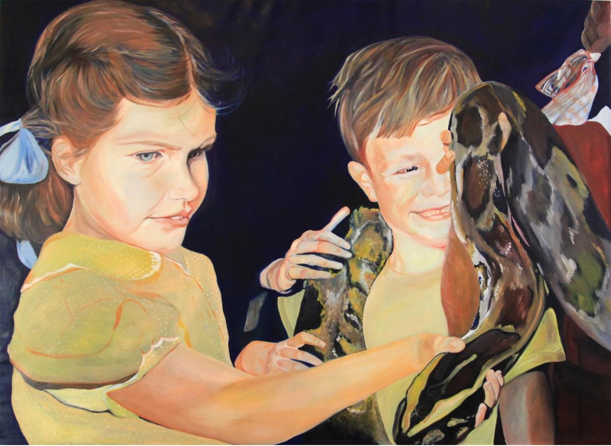 Serpent huile sur toile 150x206 cm 2014