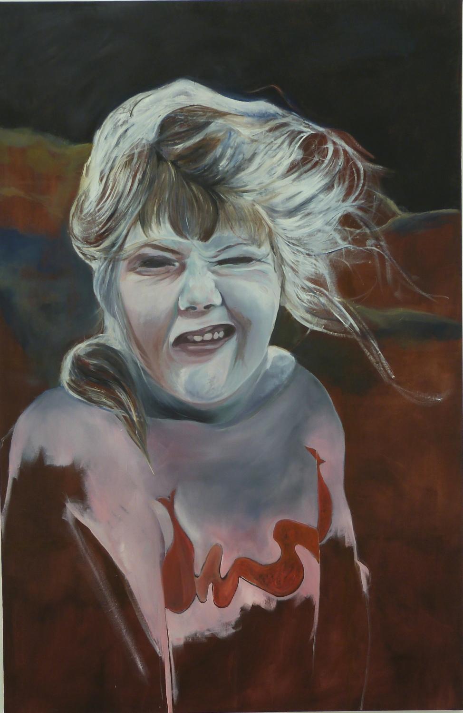 Grimace huiles sur toile 230x150 cm 2013